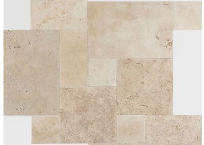 Traverntine Classic-french-pattern-chiselled-edge